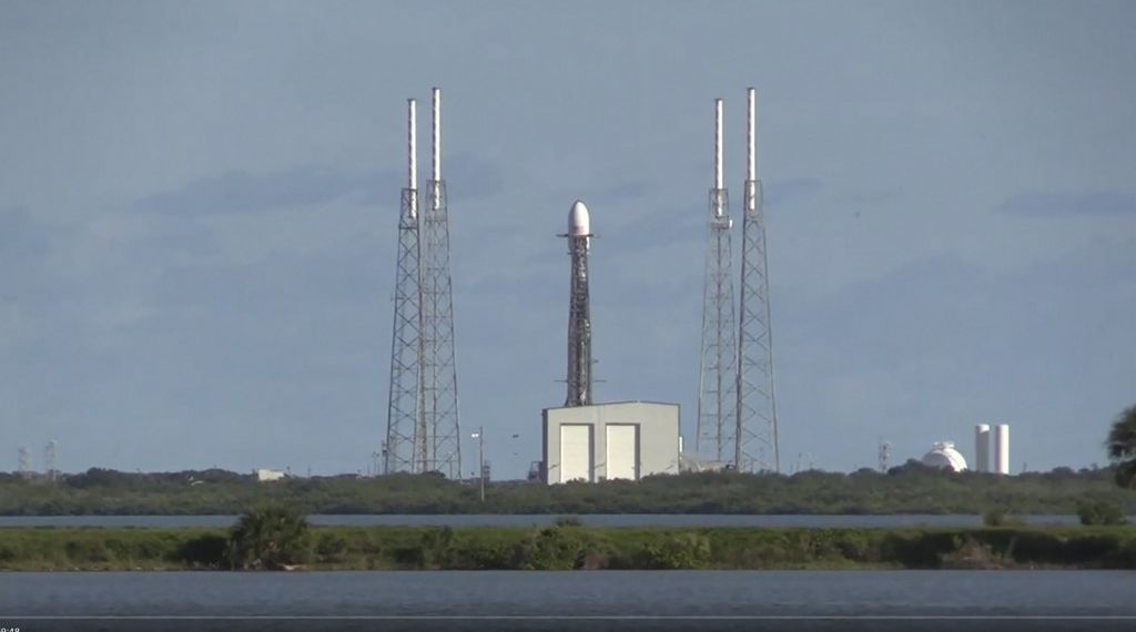 "This NASA video grab image shows SpaceX's first operational Starlink before launch on a reused Falcon 9 on November 11, 2019 at Cape Canaveral, Florida. - The private SpaceX company on Monday launched a second set of mini-satellites as it builds a huge constellation of the small orbiting devices aimed at greatly expanding internet access around the globe. A Falcon-9 rocket launched from Cape Canaveral, Florida, placed 60 mini-satellites in orbit, joining 60 others launched in May. (Photo by HO / NASA / AFP) / RESTRICTED TO EDITORIAL USE - MANDATORY CREDIT ""AFP PHOTO /NASA/HANDOUT "" - NO MARKETING - NO ADVERTISING CAMPAIGNS - DISTRIBUTED AS A SERVICE TO CLIENTS"