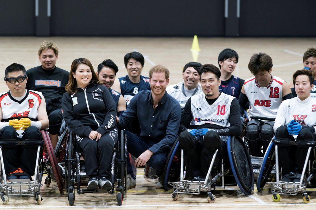 الأمير هاري يلتقي ذوي الاحتياجات الخاصة في طوكيو