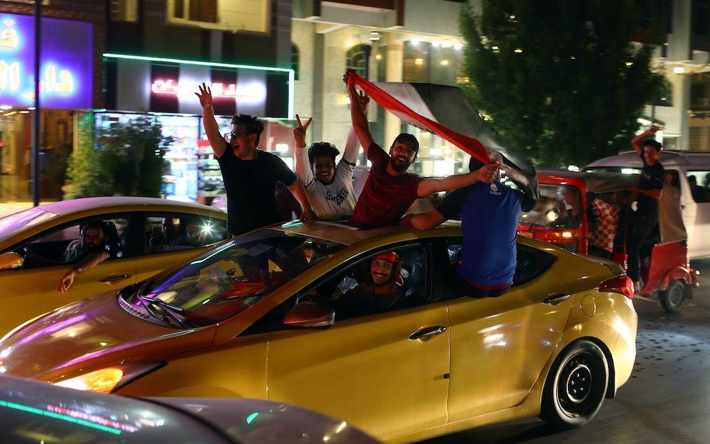 """فوز العراق على إيران متنفس لدعم """"احتجاجات العراق"""""""