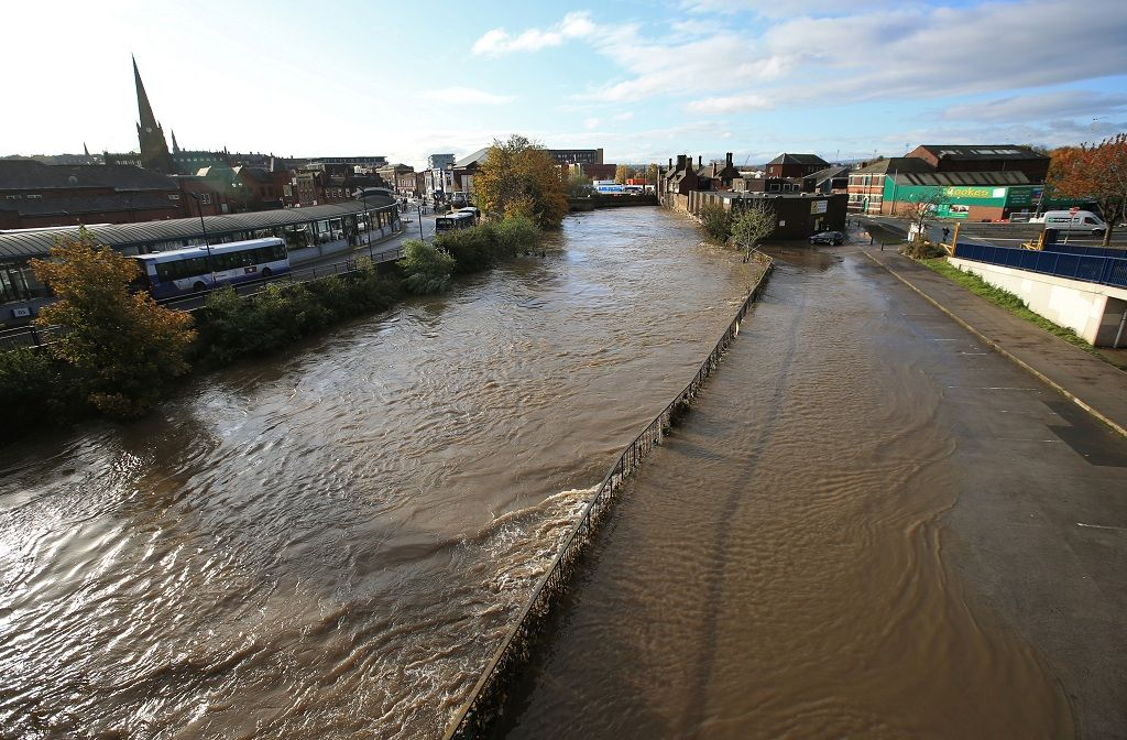 General view shows the River Don in central Rotherham, near Sheffield, Britain November 8, 2019. REUTERS/Jon Super