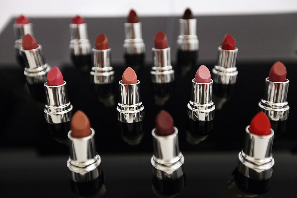 "NEW YORK, NY - SEPTEMBER 14:   Avon lipstick products are displayed inside the newly completed U.S. headquarters for Avon Products Inc. on September 14, 2011 in New York City. The ""green"" 275,000 square-foot headquarters were constructed by 17 percent female laborers  and was designed to meet the Gold standard for commercial interiors under the U.S. Green Building Council's Leadership in Energy and Environmental Design (LEED) rating system.  (Photo by Mario Tama/Getty Images)"