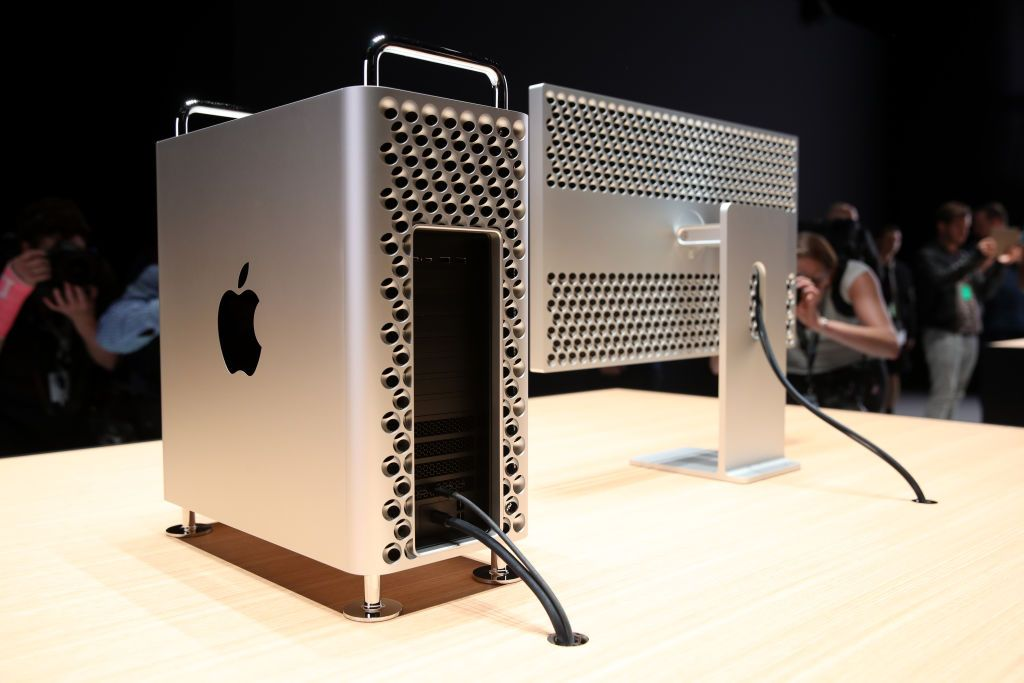 SAN JOSE, CALIFORNIA - JUNE 03: The new Mac Pro is displayed during the 2019 Apple Worldwide Developer Conference (WWDC) at the San Jose Convention Center on June 03, 2019 in San Jose, California. The WWDC runs through June 7. (Photo by Justin Sullivan/Getty Images)
