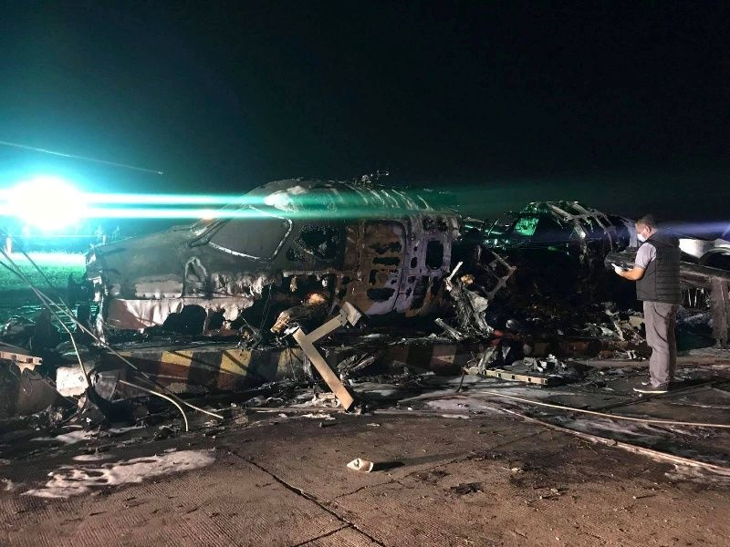 Debris of the crashed plane are seen at Pasay City, Metro Manila, Philippines, March 29, 2020. Manila International Airport Authority Media Affairs Division/Handout via REUTERS. NO RESALES. NO ARCHIVES. MANDATORY CREDIT. THIS ...</p>                     </div>                     <div class=