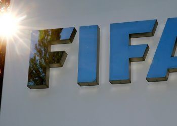 FILE PHOTO: The logo of FIFA is seen in front of its headquarters in Zurich, Switzerland September 26, 2017.