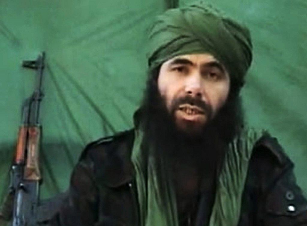 "(FILES) This undated handout file photo taken on July 26, 2010 apparently shows Al-Qaeda in the Islamic Maghreb (AQIM) chief Abdelmalek Droukdel, aka Abu Musab Abdul Wadud speaking at an unknown location. - Al-Qaeda in the Islamic Maghreb (AQIM) chief Abdelmalek Droukdel was killed on June 5, 2020 in Mali. (Photo by - / Hand-Out / AFP) / RESTRICTED TO EDITORIAL USE - MANDATORY CREDIT ""AFP PHOTO/ HO"" - NO MARKETING - NO ADVERTISING CAMPAIGNS - DISTRIBUTED AS A SERVICE TO CLIENTS"