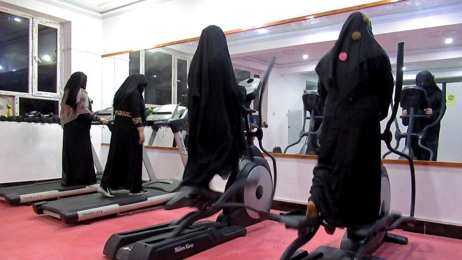 Afghan women exercise in a fitness gym in Kandahar, Afghanistan September 16, 2020. Picture taken September 16, 2020. REUTERS/Ismail Sameem NO RESALES. NO ARCHIVES