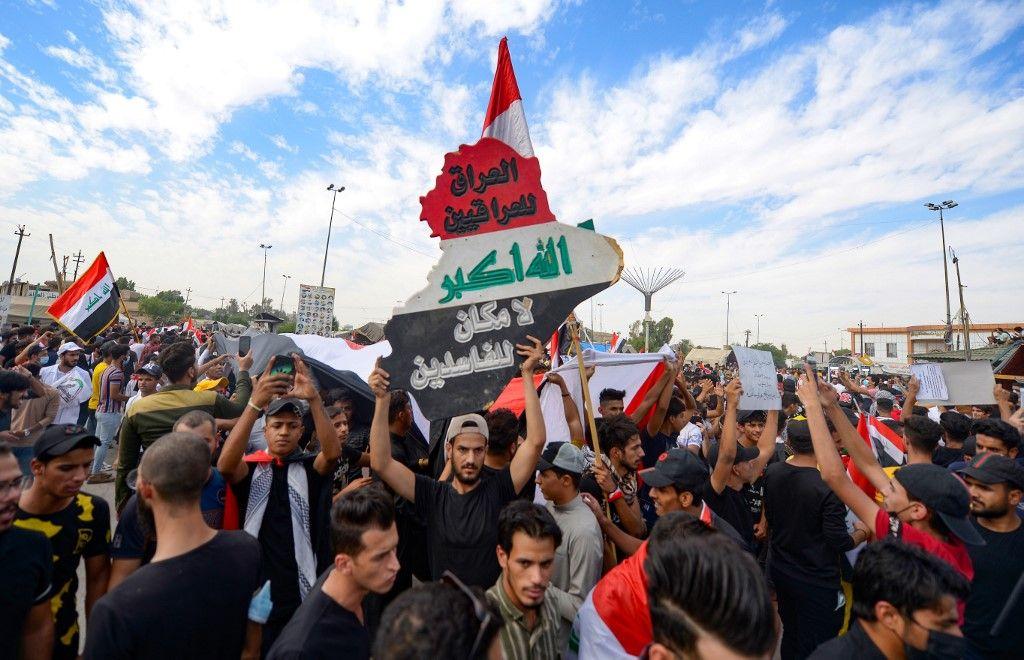 """تظاهرات العراق في صورة أشبه بالتي كانت قبل عام """"صور"""""""