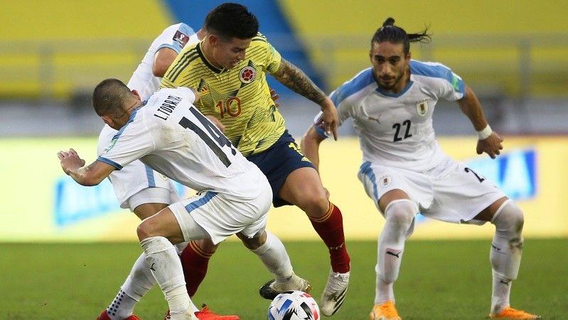 تصفيات كأس العالم: أوروغواي تهزم كولومبيا بـ 3 أهداف