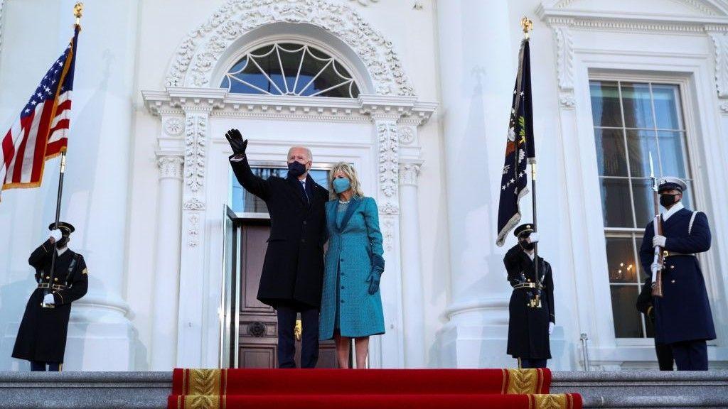 """الرئيس الـ 46 للولايات المتحدة """"جو بايدن"""" يصل إلى البيت الأبيض"""