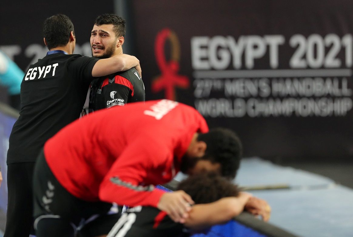 مونديال اليد.. حزن شديد للاعبي مصر بعد الخسارة أمام الدنمارك بطل العالم