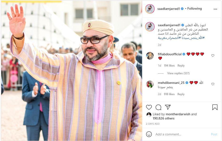 الشاب فضيل وسعد لمجرد وأسماء المنور… فنانون جزائريون ومغاربة ينددون بالإساءة لملك المغرب