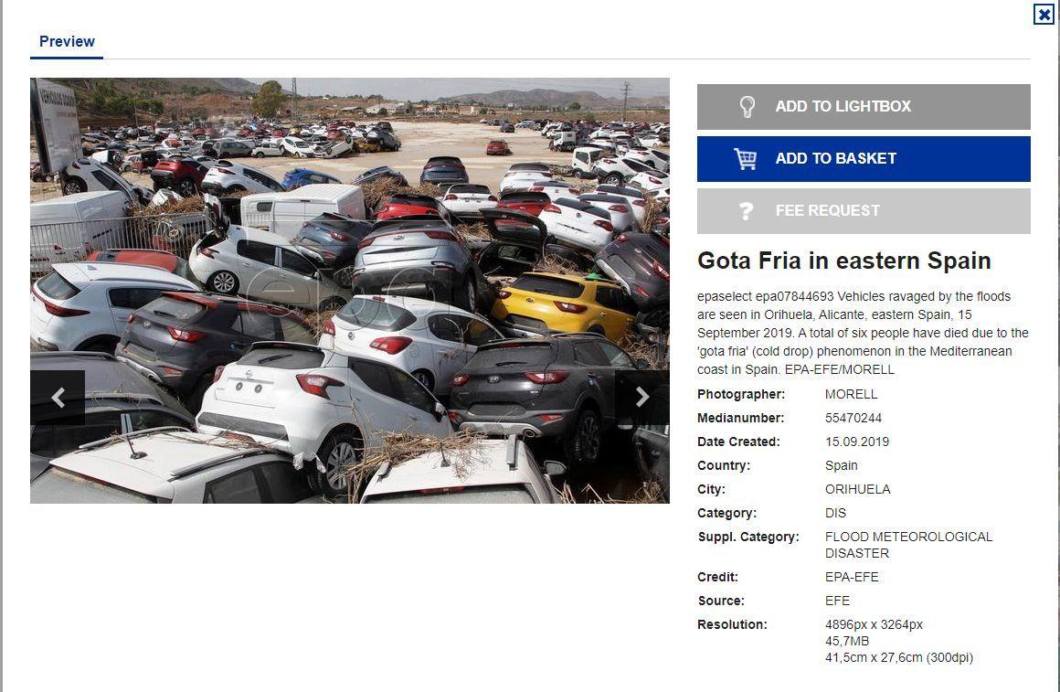 صورة لسيارات جرفتها فيضانات في إسبانيا عام 2019 تنتشر من جديد.. ما السبب؟