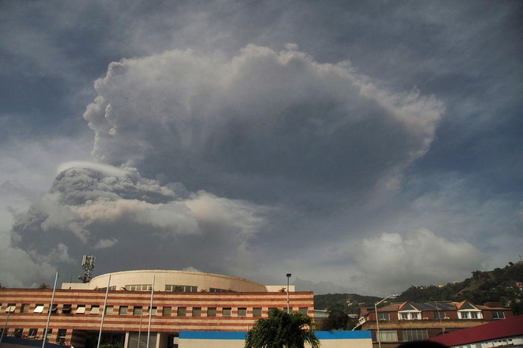 ثوران بركان جديد في الكاريبي