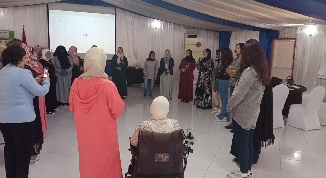مشاركات في ورشة عمل في التفكير التصميمي بالصويرة بالمغرب