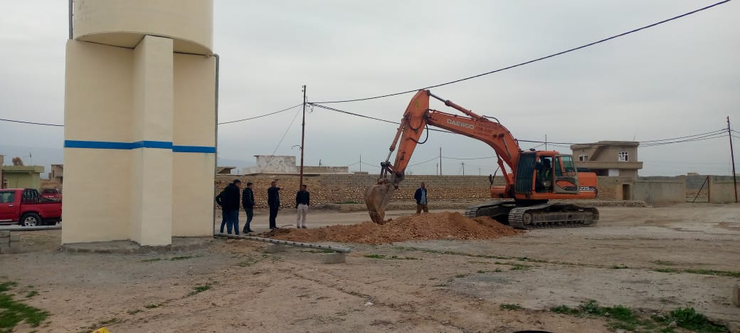 أعمل مشروع المياه في تل قصب