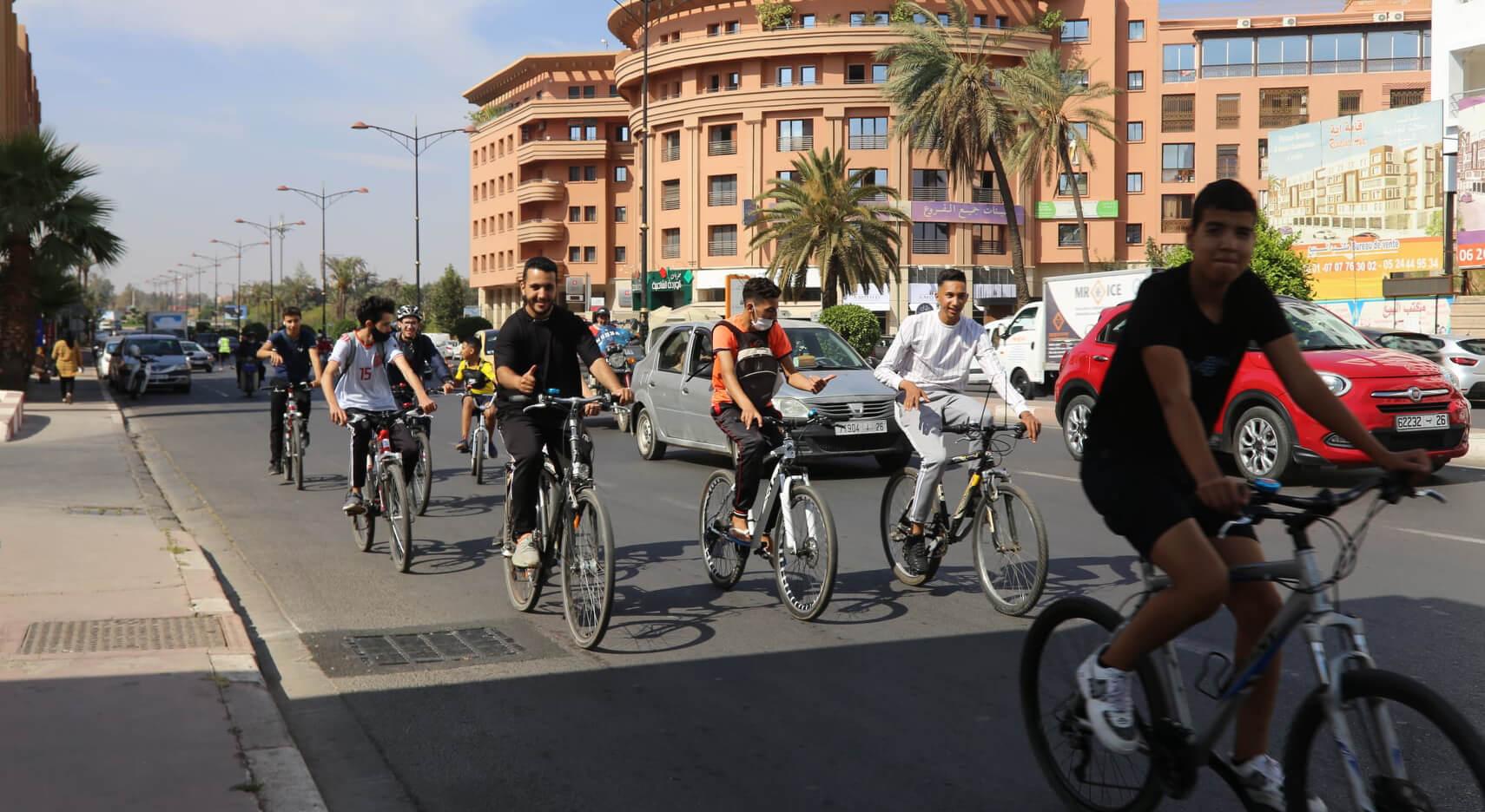 بمشاركة 30 دراجًا.. مراكش أحيت اليوم العالمي للدراجة الهوائية