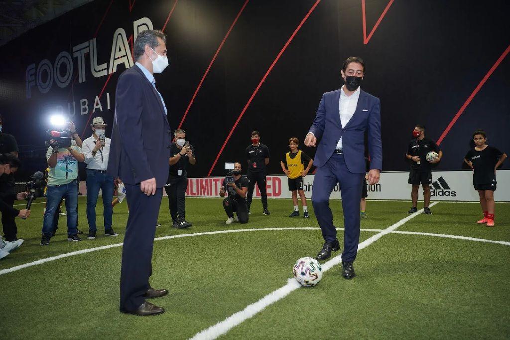 """دبي: افتتاح """"فوت لاب"""" أول مُجمع يجمع بين التكنولوجيا والذكاء الاصطناعي بمجال كرة القدم"""