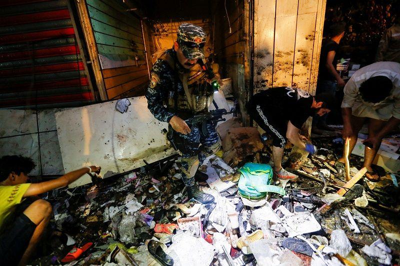 شاهد بالصور.. أثار الدمار الذي خلفه انفجار مدينة الصدر