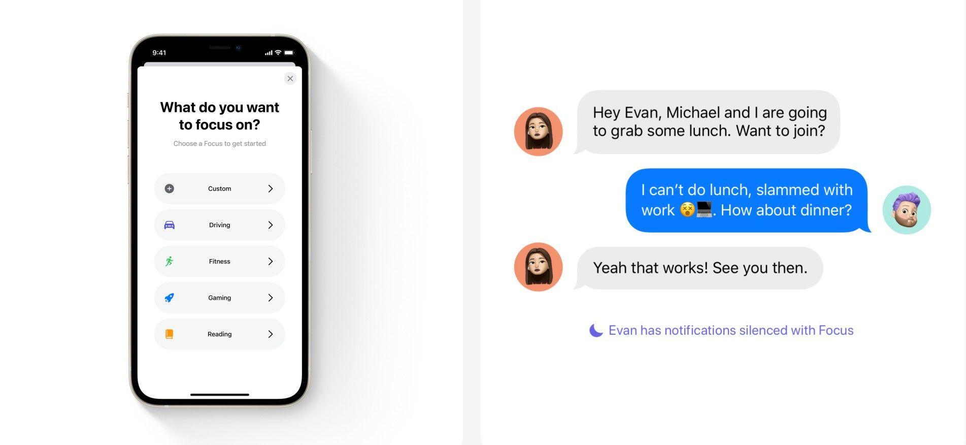 قبل انطلاق حدث أبل 2021.. إليكم كل التفاصيل التي ترغبون في معرفتها عن هاتف أيفون الجديد ونظام IOS 15 - focus mode