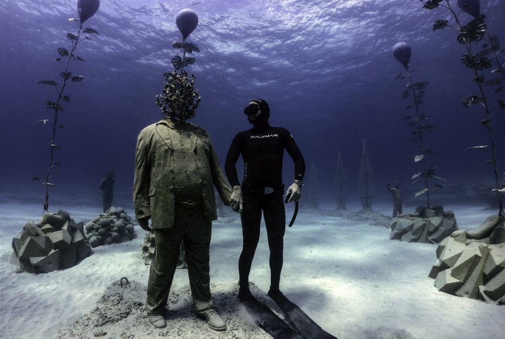 افتتاح متحف منحوتات تحت الماء في قبرص